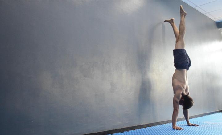 Partial Wall Handstand Rep Beginning