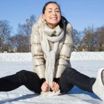 GymnasticBodies athlete enjoys Valentine's Day in the snow.