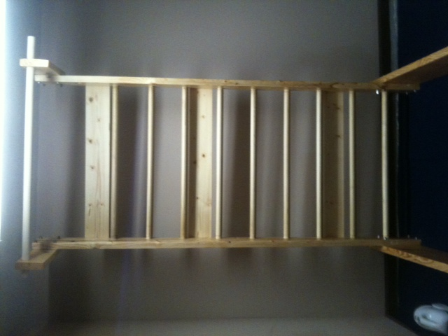 Free standing stall bars pull up bar plans equipment for Free standing bar plans