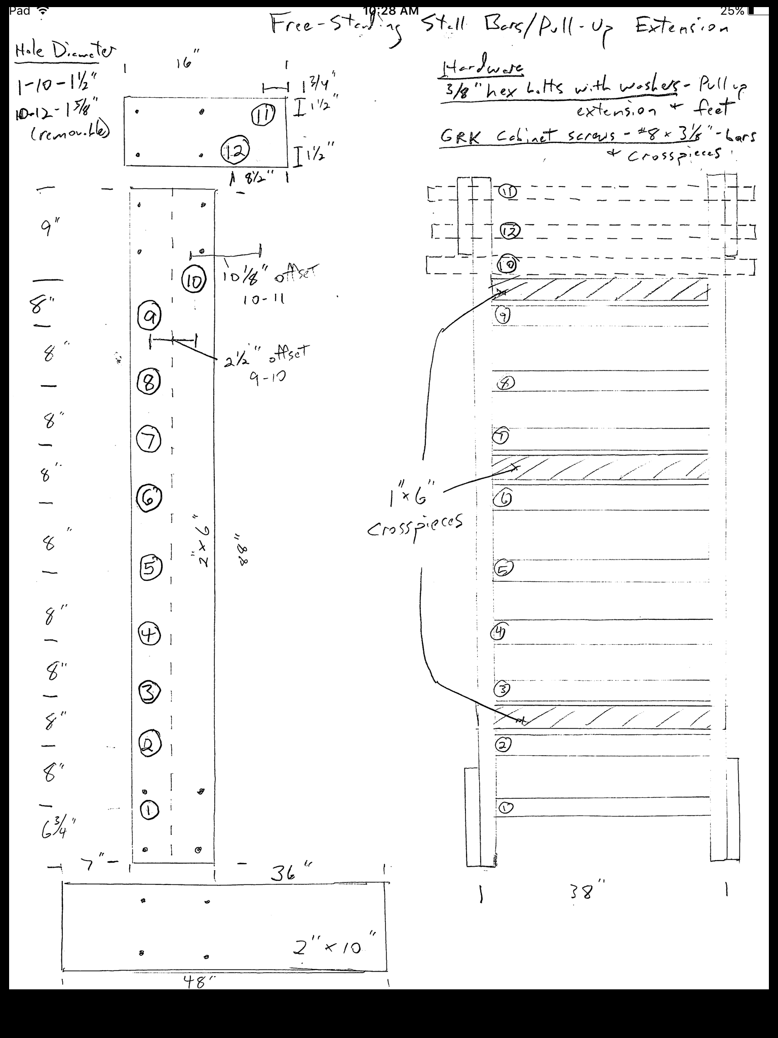Free standing stall bars pull up bar plans page 2 for Free standing bar plans