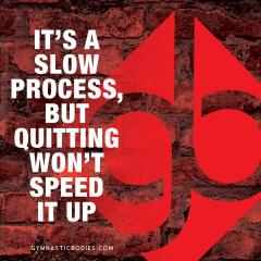 No Quitting...