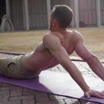 GymnasticBodies athlete demonstrates a Shoulder Flexibility Stretch.