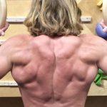 Christopher Sommer's athlete demonstrates a shoulder strengthening exercise, the hinge row.