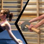 GymnasticBodies female athletes demonstrates the difference between shoulder extension flexibility and shoulder flexion mobility.