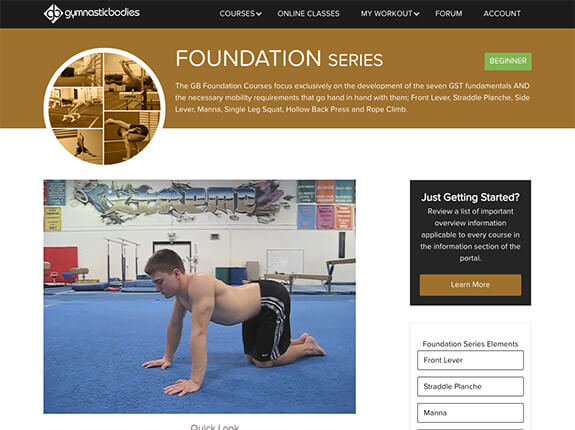 Foundation Series Course page