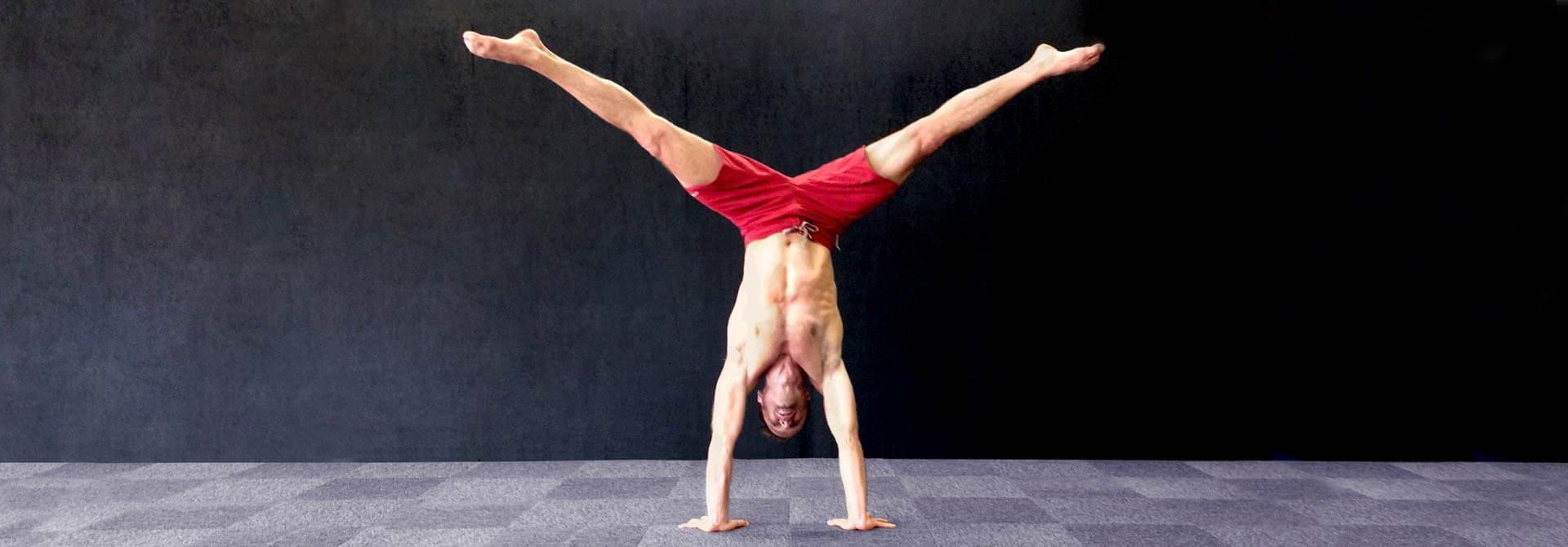 GymnasticBodies athlete shows that handstands are not just for the young guns.