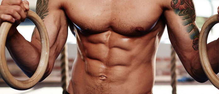 GymnasticBodies athlete shows off his six-pack.