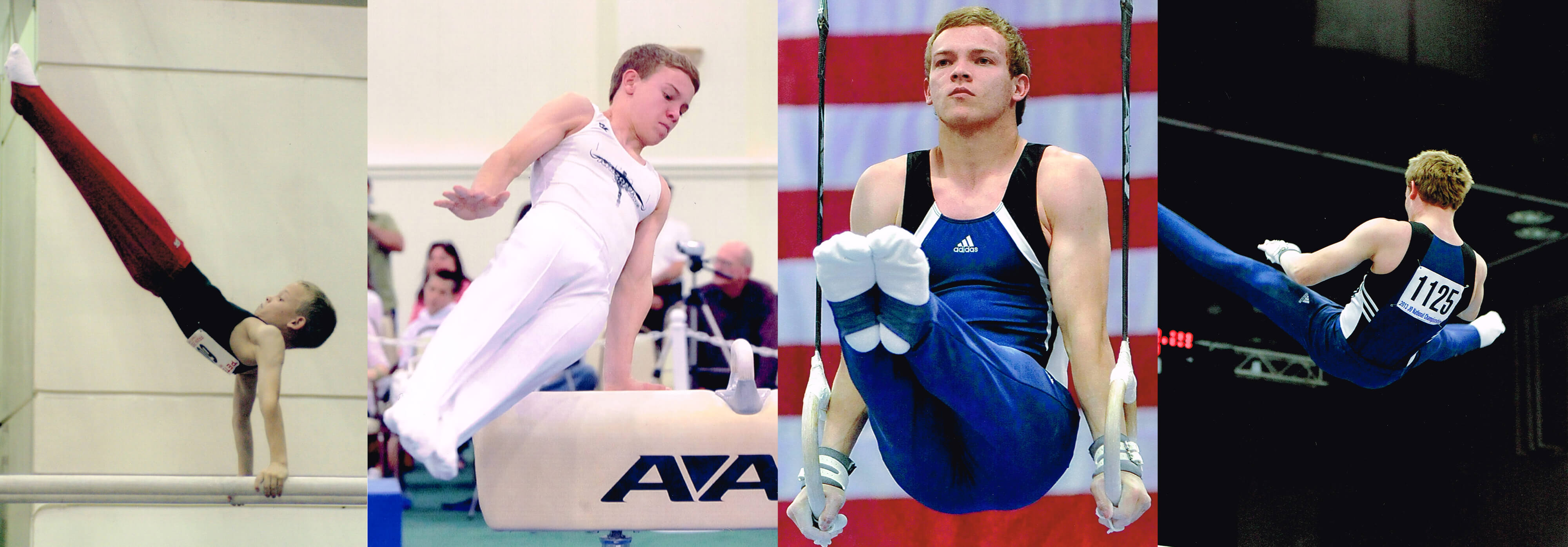 GymnasticBodies athlete's progression through his gymnastic training career.