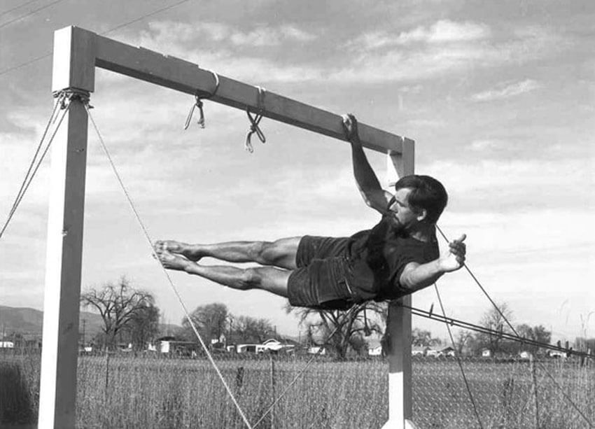 John Gill crushes his Gymnastic Strength Training, long before GymnasticBodies training was around for guidance.